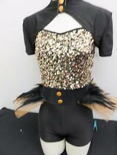 Dance Costume Small Medium Adult Jazz Tap Soldier Gold Hip Hop Solo Competition