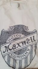 New Men's Silver White Vintage Maxwell Motor Company Shield Tee T Shirt L XL 2XL