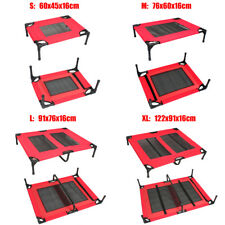 Heavy Duty Pet Dog Trampoline Bed Hammock Cat Cover Frame S M L XL Red