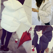 Winter Women Warm Down Coat Parka Puffer Bubble Black Hooded Quilted Jacket
