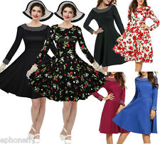 50'S 60'S ROCKABILLY DRESS Vintage PLUS SIZE Swing Pinup Housewife Party Dress
