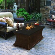 American Fire Products Santa Cruz Coffee Table Height Rectangle Granite Top Gas