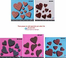 ASSORTED SIZE HEARTS  -  HANDMADE, CERAMIC MOSAIC TILES ( Pick you Group) #1