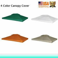 10'x13' Waterproof Gazebo Replacement Cover Canopy Outdoor Garden Sunshade Patio