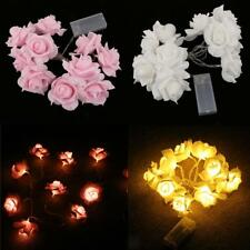 Xmas String Lights Rose Flower Fairy 10 LED Indoor Party Light Bedroom Decor