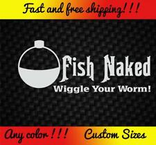 Fish Naked Vinyl Decal Sticker Car Truck Bass Boat Fishing Funny Pole Rod Lure