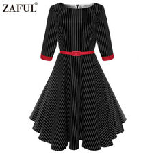 New Rockabilly Retro Vintage Style 40's 50's Pin Up Wiggle Pencil Jive Tea Dress
