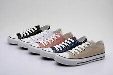 Womens Ladies Girls Canvas Flat Lace Up Pumps Trainers Casual Shoes (1142)