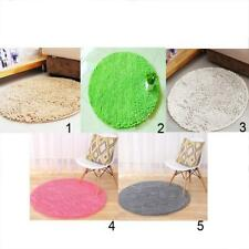 Round Non-slip Bathroom Microfiber Rug Carpet Chenille Door Mat Home Decor Mat