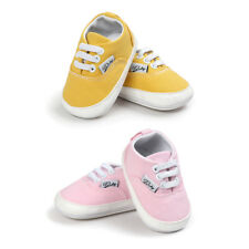 Baby Toddler Little Kid Antislip Canvas Shoes Infant Baby Soft Sole Pink Yellow