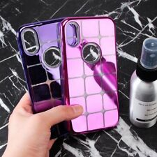 Luxury Mirror Soft  Shockproof TPU+Chrome PC Case Cover For iPhone X 8 7 6S Plus