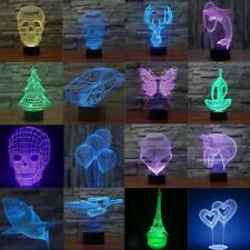 3D Optical Illusion 7 Color Change Night Touch Switch LED Desk Table Light Lamp