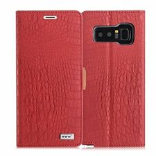 Samsung Galaxy Note 8 Case Crocodile Pattern Cover Premium Leather Wallet Flip