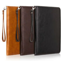 NEW Leather Smart Case Stand Cover Hand Rope for iPad 2 3 4 5 Mini Air Pro 9.7''