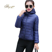 Women New Long Coat Jacket Padded Hooded Down Parka Winter Puffer Outwear Cotton