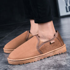 Men's Casual Leisure Winter Snow Non-Slip Thick Sole Comfy Warm Work Shoes C76