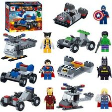 Lots 8 Superhero Minifigures Set Building Blocks 8 Figures and 8 Tools Kid's Toy
