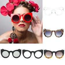 Women's Vintage Mirror Designer Flat Lens Sunglasses Retro Eye Glasses Eyewear