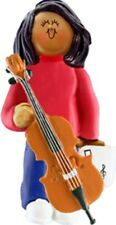 Female African-American Musical Instruments Personalized Christmas Ornament