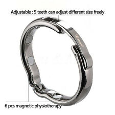 BIGGER MAN Metal Penis Impotence Erection Delay Aid Magnet Stainless Steel ring
