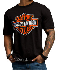 HARLEY DAVIDSON Motorcycle Sports Wheels Racing Rider Biker Black T-Shirt 2017