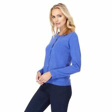 Maine New England Womens Blue Two Pocket Cardigan From Debenhams
