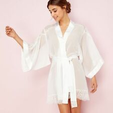 Reger By Janet Reger Womens Ivory Lace Bridal Kimono Gown From Debenhams