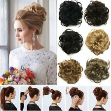 US Lady Wavy Curly Pony Tail Hair Bun in Scrunchie Hair Extensions Hairpiece ncw