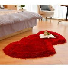 Double Heart-shaped Carpet Non-slip Super Soft Floor Mat Fluffy Bedside Carpet