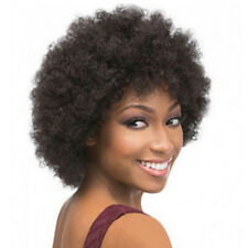 Short Afro Kinky Curly Synthetic Wig 6'' Full Kinky Curly Wig with Free Wig Cap