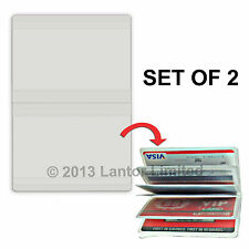 Credit Card, ID Card Holder, Clear Plastic, Holds up to 10 cards #IDCC-10#