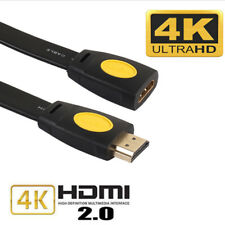 HDMI V2.0 High Speed Male Female Extension Cable 4k HDR 3D Blu-Ray Switch HDTV
