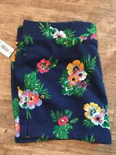 NWT women's Old Navy Patterned French Terry Shorts Girls Blue Soft medium-weight