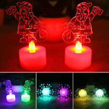 Christmas Crystal Colorful Changing Mini LED Desk Decor Table Lamp Night Light