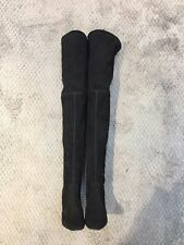 Handmade] Womens Suede Leather Boot Highstreet Long Over Knee Thigh High  Black