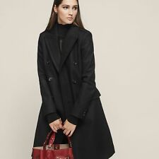 NEW BETTY DOUBLE BREASTED COAT BLACK WOMENS BETTY DOUBLE BREASTED COAT BLACK