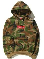 camouflage Men's SUPREME Hip Hop Hoodie Embroidered Cotton Sweater Hoodies