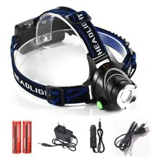 LED Headlight Zoomable Cree Xml T6 2000lm Headlamp Rechargeable Head Lamp