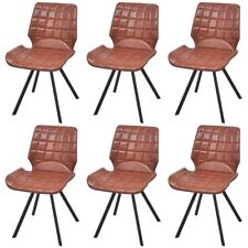 Dining Chairs Set of 2/4/6 pcs Artificial Leather Gray Brown Design  Cantilever