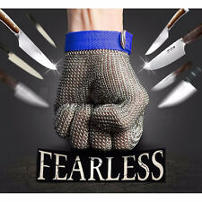 Safety Cut Proof Stab Resistant Stainless Steel Metal Mesh Butcher Glove 1Pc