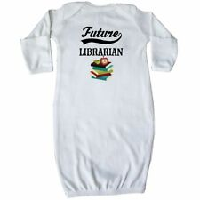 Inktastic Future Librarian Gift Idea Baby Layette Sleeper Reading Reader Books