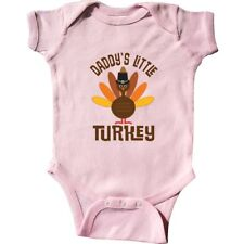 Inktastic Thanksgiving Daddy Little Turkey Infant Creeper Holiday Daddys Pilgrim
