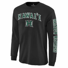 Hawaii Warriors Black Distressed Arch Over Logo Long Sleeve Hit T-Shirt