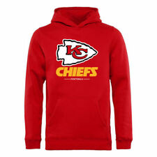 NFL Pro Line Kansas City Chiefs Youth Red Team Lockup Hoodie - NFL