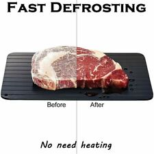 HotMeat Fast Defrosting Tray Thaw Frozen Food Safe Quick Defrost Plate Defroster