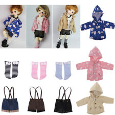 Adorable Doll Hoodied Coat/PU Leather Strap Short/Socks for 1/6 BJD SD MSD YOSD