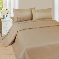 Australian Bedding Collection 1000 Thread Count 100% Egyptian Cotton Taupe Solid