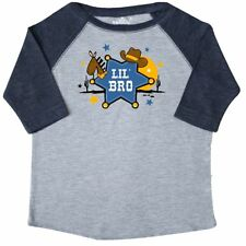 Inktastic Cowboy Little Brother Toddler T-Shirt Bro Hat Sheriff Western Badge