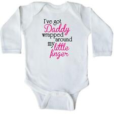 Inktastic I've Got Daddy Wrapped Around My Little Finger Long Sleeve Creeper