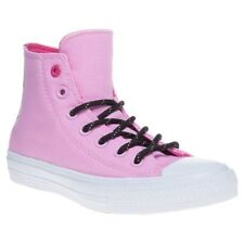 New Womens Converse Pink Chuck Taylor All Star Ii High Canvas Sneakers Lace Up